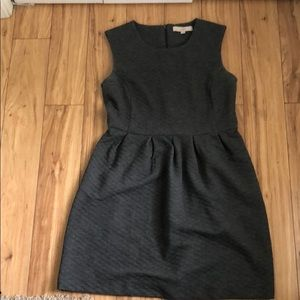 Loft sleeveless gray dress